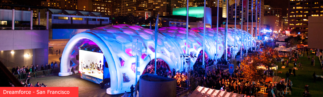 Dreamforce inflatable event structure
