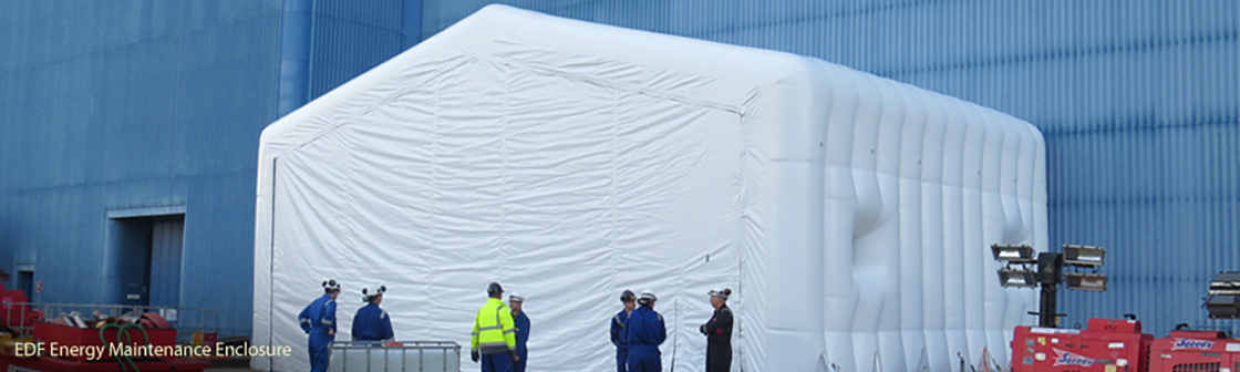EDF Energy Inflatable Maintenance Enclosure