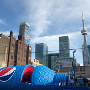 Pepsi Pop Up Inflatable Event Structure