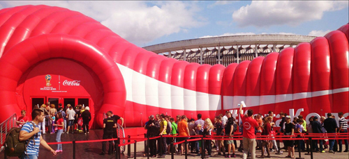 Coca-Cola St.Petersburg Inflatable Structure