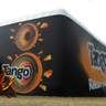 12m Cube with printed banner
